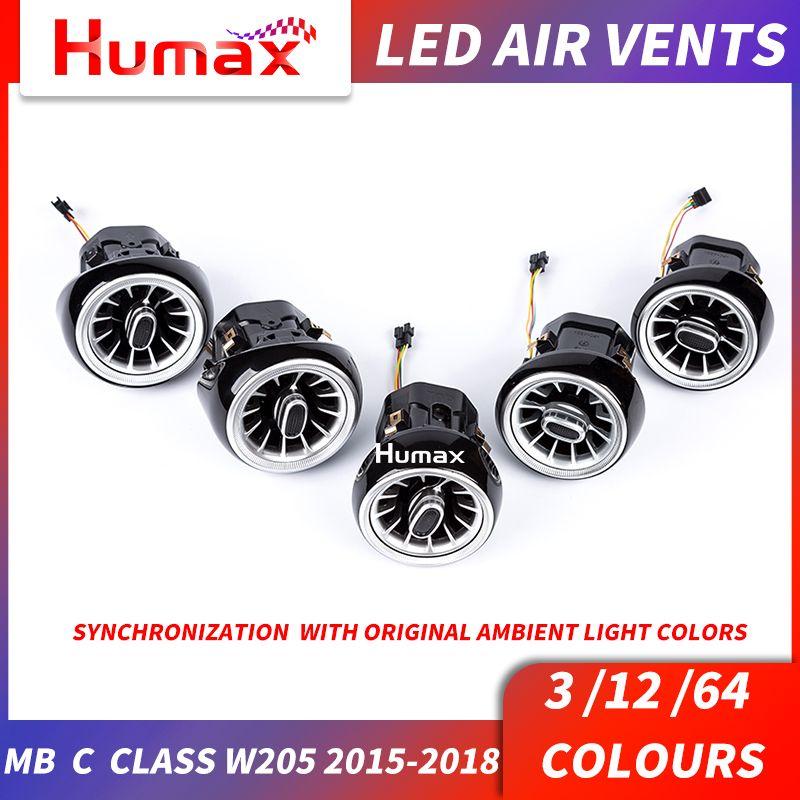 Für w205 w213 X253 C klasse C200 C180 E klasse E43 E450 GLC klasse turbine air vent LED air zustand vent mit umgebungs licht vent