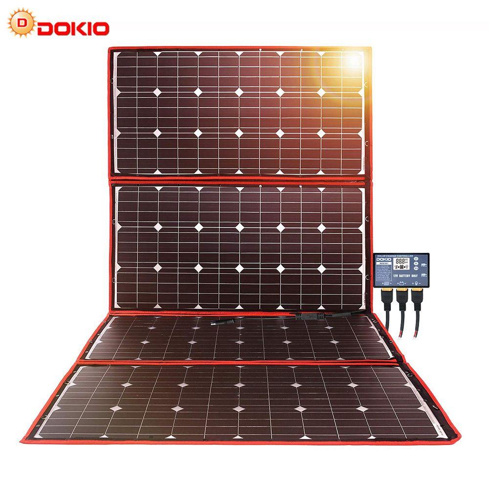 Dokio 300W 18V Flexible Faltbare Solar Panel Hiqh Qualität Tragbare Solar Panel China Für Camping/Boot/ RV/Reise/Home/Auto