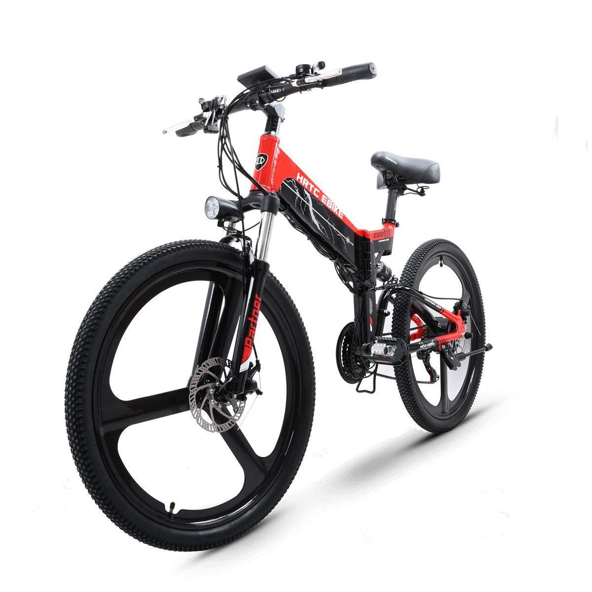 26 zoll falten elektro mountainbike 48V 400W hoher geschwindigkeit ebike Abnehmbare lithium-batterie Reise unterstützt elektro-bike