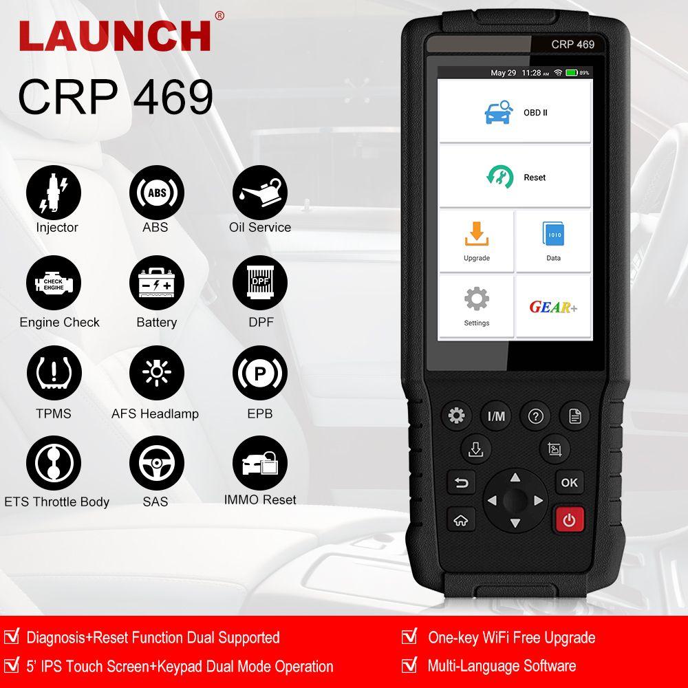 Starten OBD2 CRP469 Auto Diagnose Werkzeug OBD Scanner ABS SAS Airbag EPB DPF TPMS Reset für BMW Benz AUDI TOYOTA ford viele autos