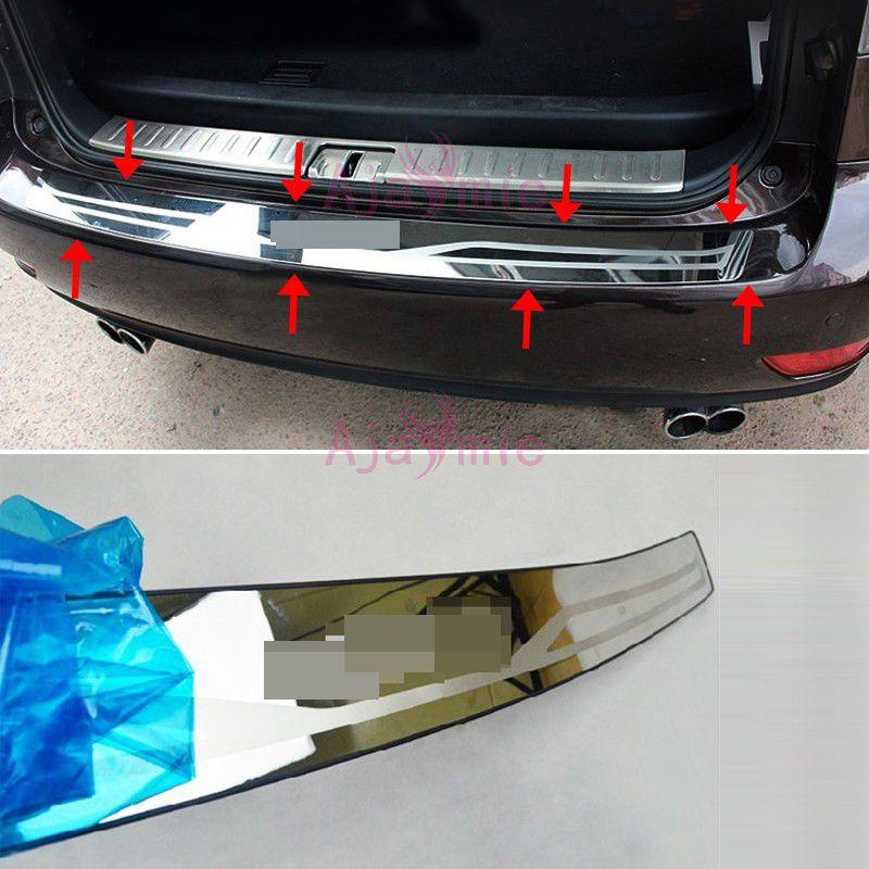Hinten Stoßdämpfer-schutz Stamm Trimmen 2009-2015 Edelstahl Auto Styling für lexus RX 450h 350 270 zubehör