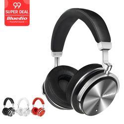 Bluedio T4S Aktif Noise Cancellingwireless Bluetooth Headphone Nirkabel Headset dengan Mikrofon untuk Ponsel
