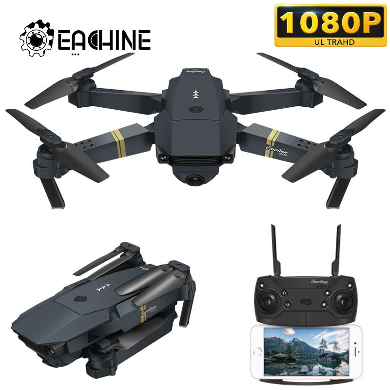 Eachine E58 WIFI FPV With Wide Angle HD 1080P Camera Hight Hold Mode Foldable Arm RC Quadcopter Drone X Pro RTF  Dron For Gift