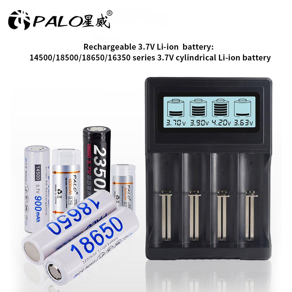 PALO ÉCRAN LCD smart 18650 chargeur pour 3.7V 18650 18350 18500 16340 17500 25500 10440 14500 26650 chargeur de batterie au lithium