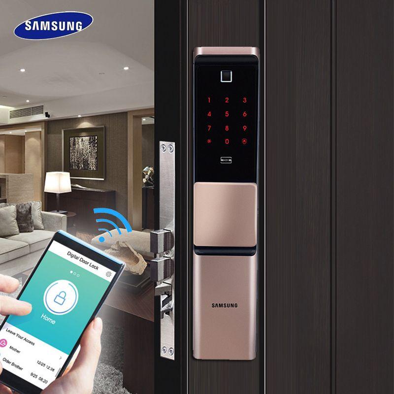 2019 NEUE SAMSUNG Fingerprint Digital Wifi Türschloss IoT Keyless SHP-DR719 Große Moritse