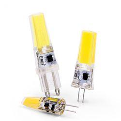 New LED Lamp G4 G9 E14 AC / DC 12V 220V 3W 6W COB LED G4 G9 Bulb for Crystal Chandelier Lights