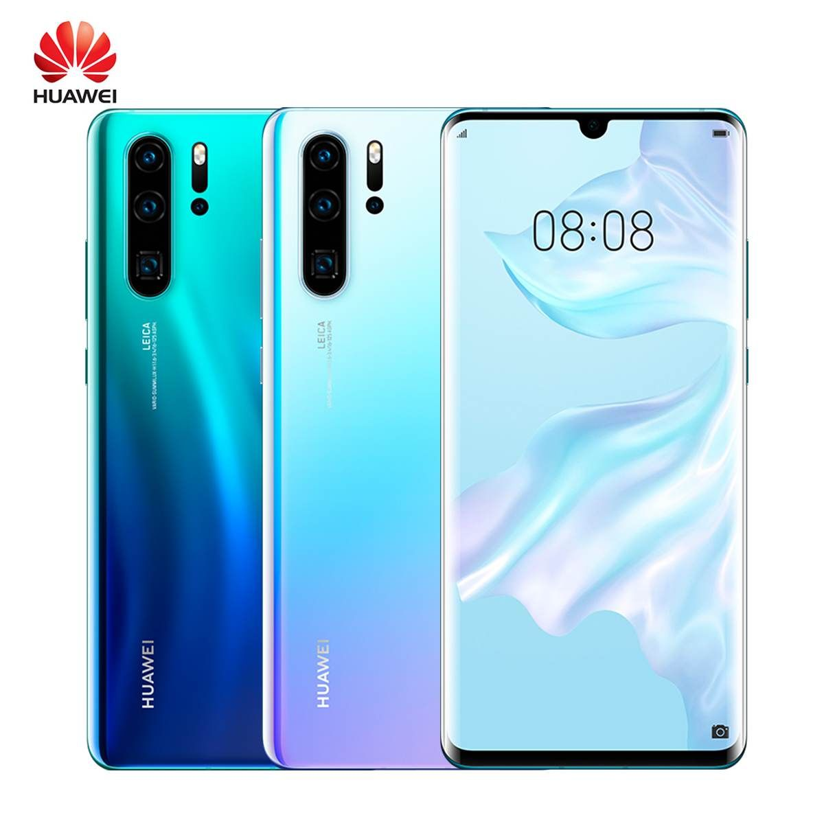Huawei P30 Pro 8 + 256GB Handy 6,47 ''Full Bildschirm OLED Kirin 980 Smartphone NFC GPS Android 9.1 5 kameras 40MP + 32MP
