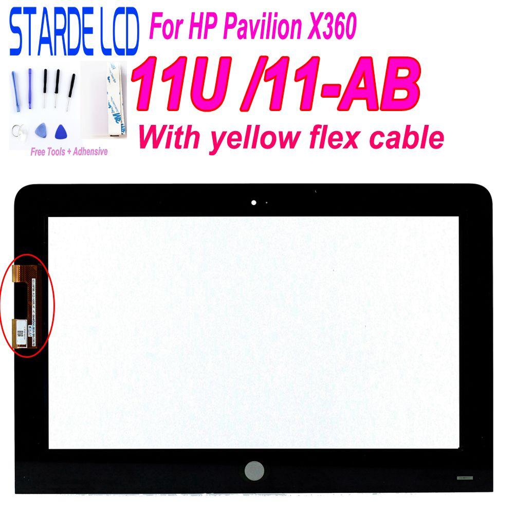 STARDE Touch 11.6 ''pour HP pavillon X360 11U 11-U 11-U054TU 11-ab jaune câble connecteurs écran tactile numériseur avec outils