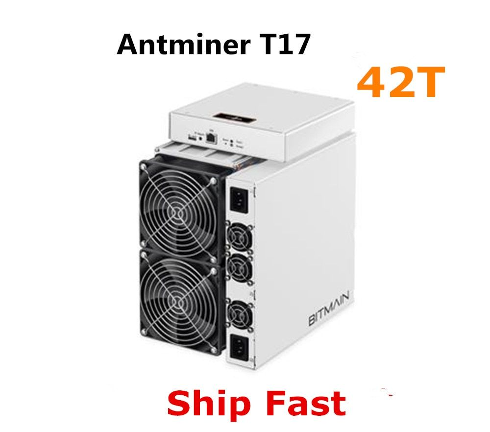 BITMAIN Neueste Asic BTC BCH Miner AntMiner T17 42TH/S Mit NETZTEIL Besser Als S9 S11 T15 S15 S17 s17 Pro Z11 WhatsMiner M3 M10 M20S