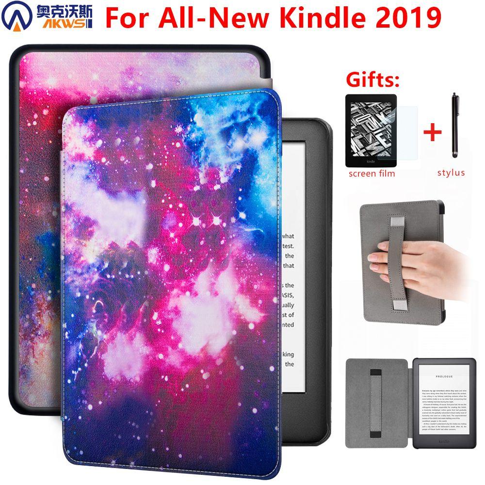 Coque magnétique pour Amazon new Kindle 10th Generation 2019 6 pouces e-reader housse pour Kindle 2019 étui avec porte-main + cadeau
