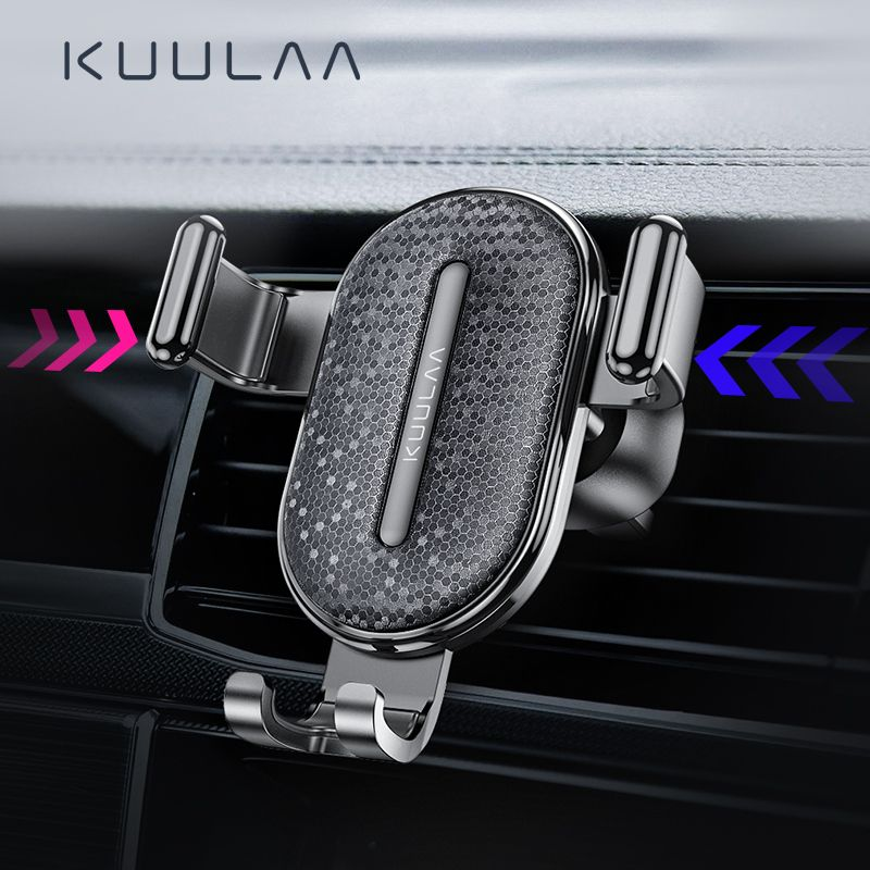 KUULAA Car Phone Holder Gravity Stand Mobile Support Holder in Car Phone Mount Holder Stand for iPhone Samsung Xiaomi