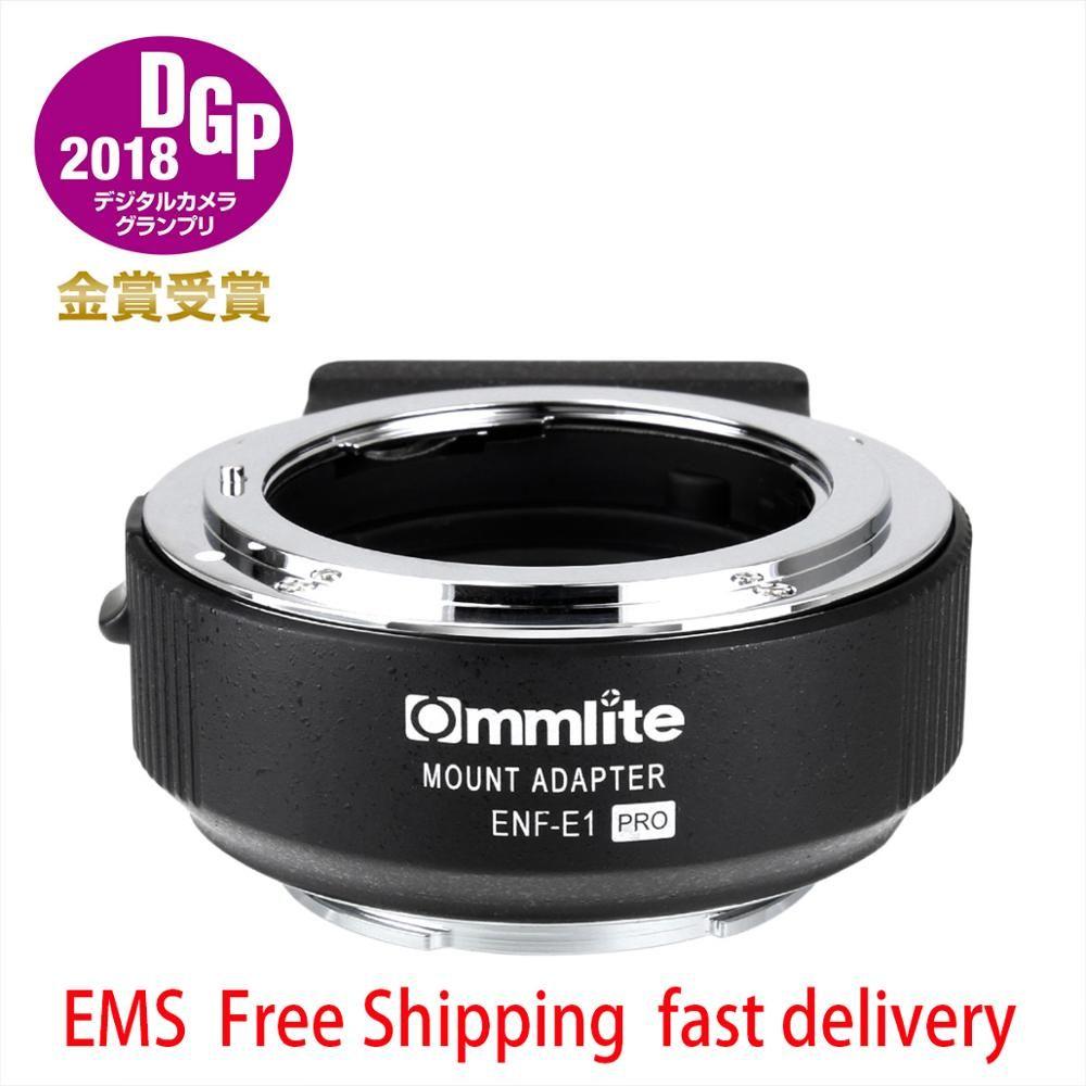Commlite Adapter CM-NF-NEX cm-enf-e1 pro für Nikon F (G) objektiv Sony E Mount Kamera Sony A6000 A6300 A6400 A7R2 A9