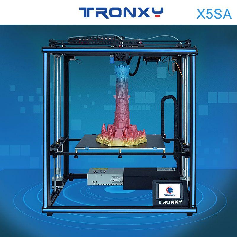 2019 Tronxy X5SA 24V Neue Verbesserte 3D Drucker DIY Kits Metall Bauen Platte 3,5 Zoll LCD Touch Screen Hohe präzision Auto Nivellierung