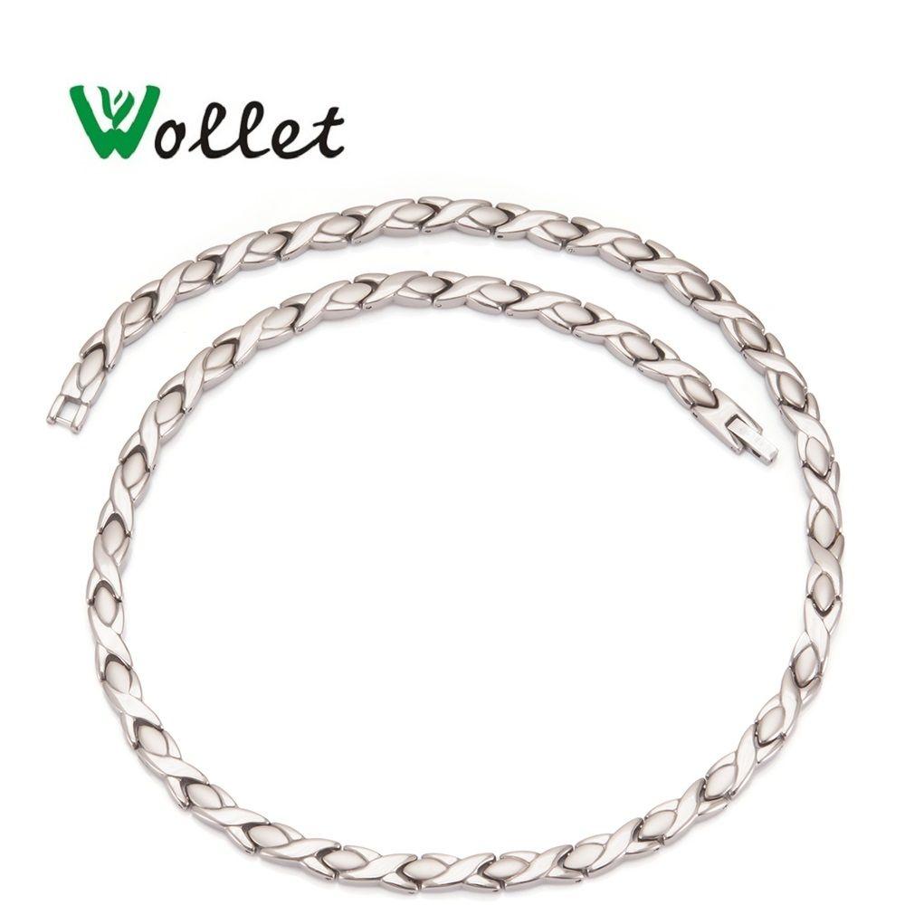Wollet bijoux énergie santé titane pur hématite Germanium infrarouge magnétique 3 en 1 éléments collier pour hommes femmes