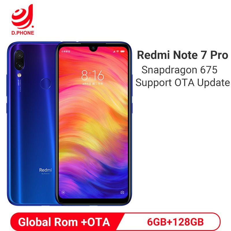 Offizielle Globale Rom Xiaomi Redmi Hinweis 7 Pro 6GB 128GB Snapdragon 675 Octa Core Handy 48MP Dual kamera 4000mAh Smartphone