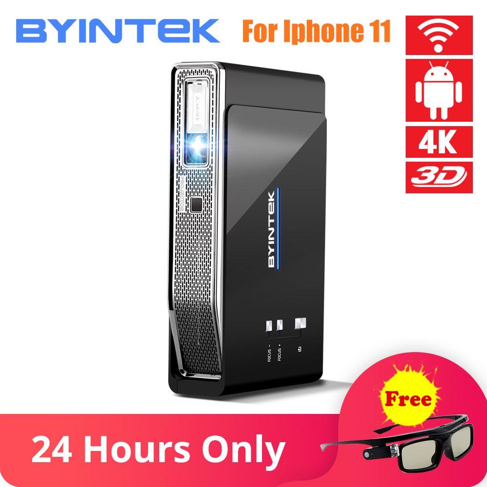 BYINTEK UFO R15 Smart Android WIFI Video Home Theater LED Tragbare USB Mini HD DLP 3D Projektor für 1080P HDMI 4K für Iphone 11