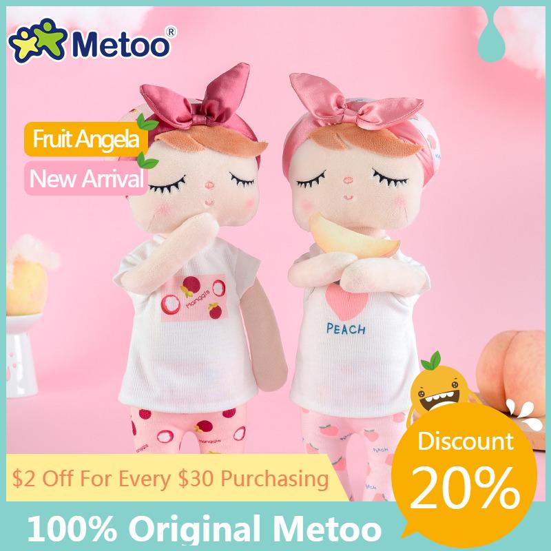 Metoo Angela fruit Dolls Plush Toys Dreaming Girl Plush Rabbit Stuffed Gift Toys for Kids Koala Panda Baby Doll