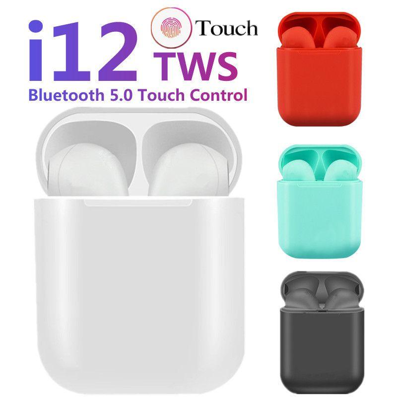 Mini i12 TWS Wireless Headphones Touch control Earphones Bluetooth 5.0 Earphone bass Headset For iPhone xiaomi PK i10 i30 i12tws