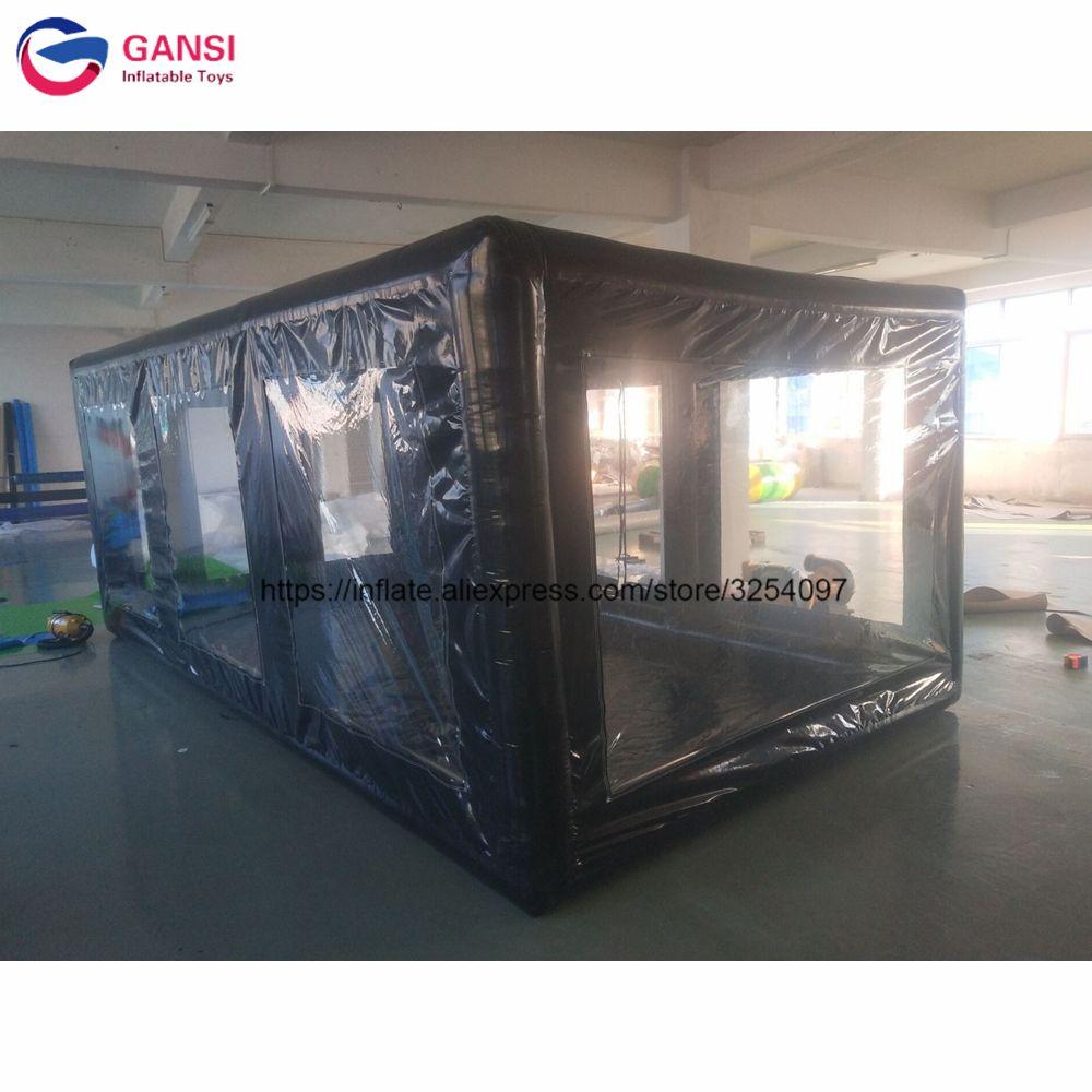 5x2,8x2 m aufblasbare auto waschen zelt schwarz durable pvc trapaulin aufblasbare auto abdeckung zelt für verkauf