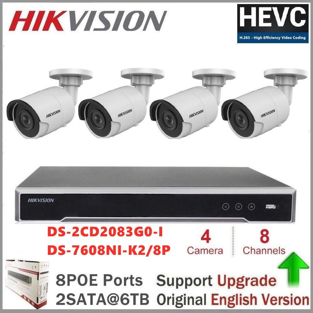 Hikvision CCTV Kamera Kits 8MP (4 K) kugel IP Kamera PoE Home/Outdoor-Wetter Video CCTV Sicherheit Überwachung Nachtsicht