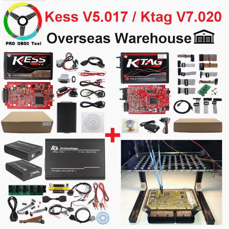 2019 Master en ligne EU rouge Kess V2 V5.017 V2.47 Ktag date V2.25 pas de jetons limité ECU puce Tuning Ktag V2.23 ECU programmeur