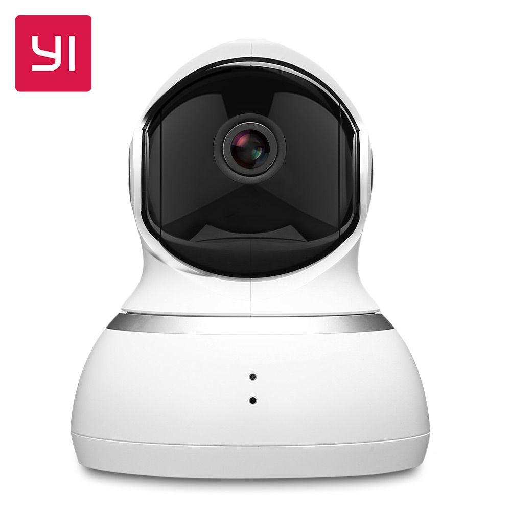 YI dôme caméra 1080P panoramique/inclinaison/Zoom sans fil IP système de Surveillance de sécurité complet 360 degrés couverture Vision nocturne blanc