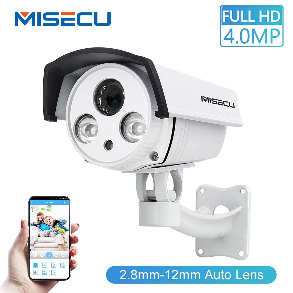 MISECU Auto Zoom objektiv 2,8-12mm 2.0MP FULL HD IP Array kamera wide dynamic CMOS Onvif P2P Nacht vision Kamera sicherheit