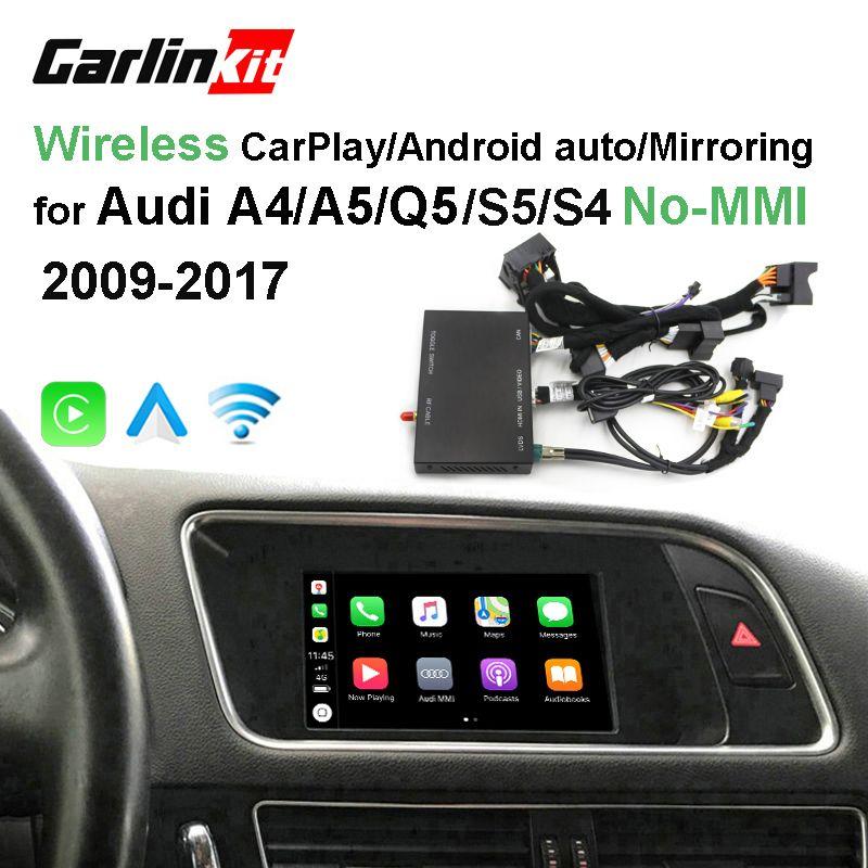 2019 auto Apple CarPlay Android Auto Wireless Decoder für Audi A4 A5 Q5 ohne MMI Original Bildschirm Reverse bild Nachrüstung kit