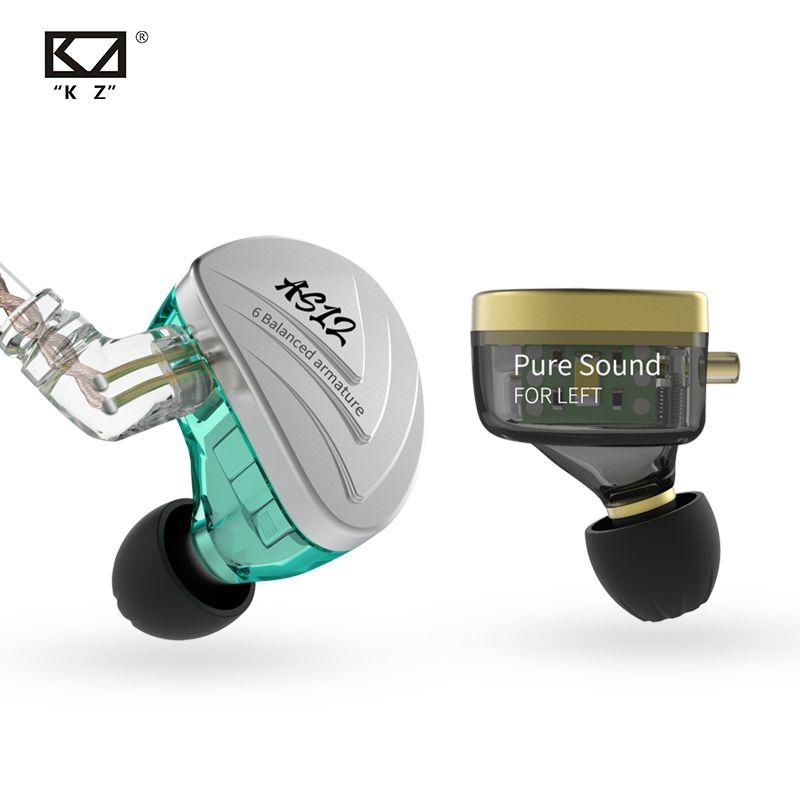 Neue KZ AS12 Kopfhörer In Ohr Monitor Headset Noise Cancelling Kopfhörer 12BA Ausgewogene Anker Sticks HIFI Bass