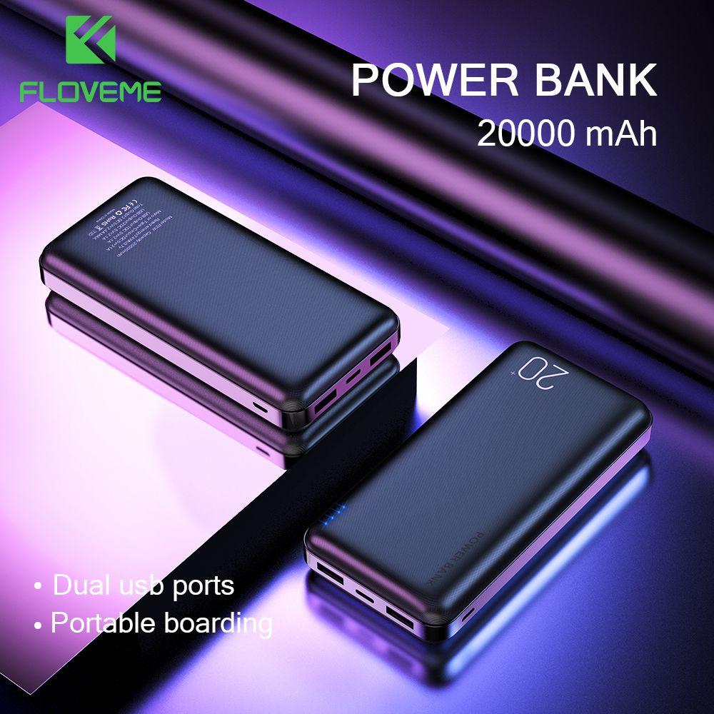 FLOVEME batterie externe 20000 mAh Portable charge téléphone Portable batterie externe banque d'alimentation de chargeur 20000 mAh pour Xiao mi mi