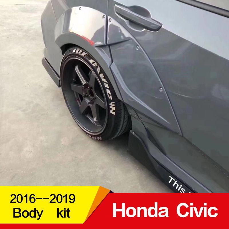 Verwenden für Honda Civic Körper kit fender 2016 17 18 19 jahr Lufteinlässe Vent Abdeckung auto refitt Breite körper 10th gen Zubehör 10 stücke