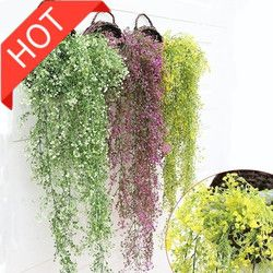 Farmhouse Home Decor  Silk Roses Fake Creeper Greeng Plants Artificial Ivy Leaves Garland Flower Vine Party Do Dropshipping