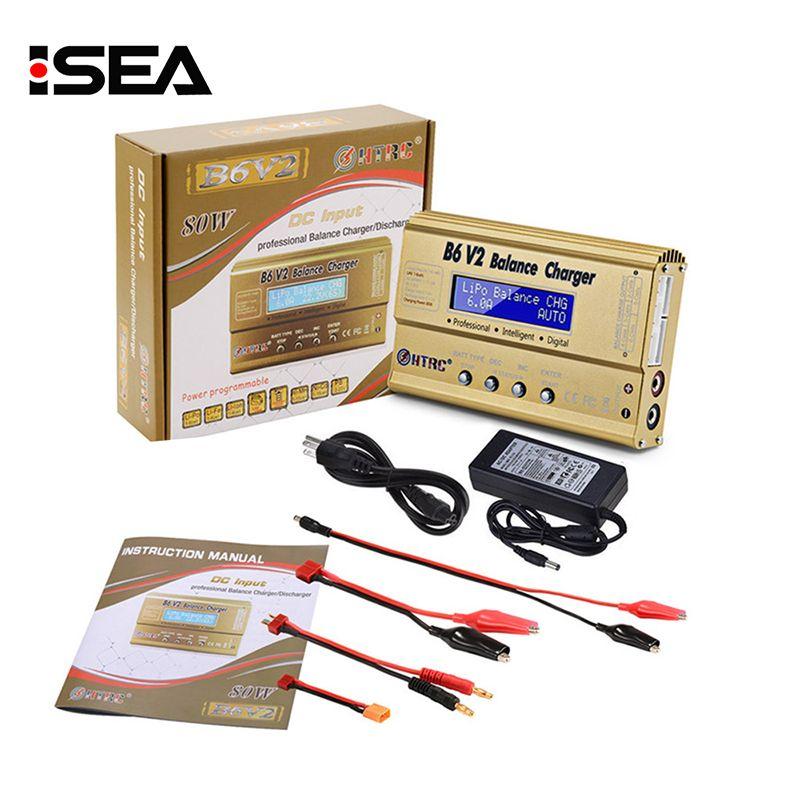 Chargeur d'équilibre HTRC Imax b6 v2 chargeur numérique professionnel 80W pour LiHV LiIonLiFe NiCd NiMH PB chargeur de batterie LiPo