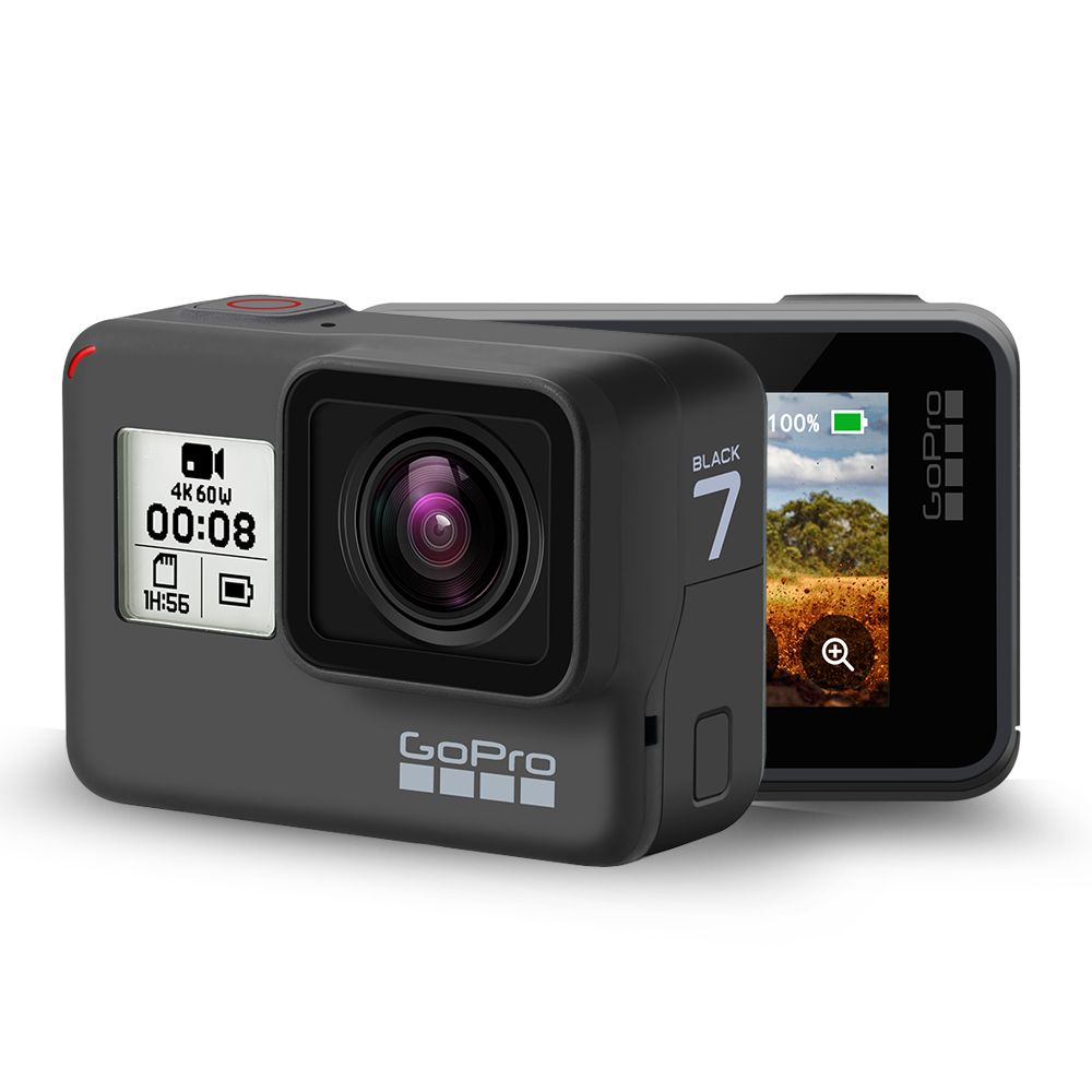 Original GoPro HERO 7 Schwarz Wasserdichte Action Kamera 4K Ultra HD Video 12MP Fotos 1080p Live-Streaming Gehen pro Hero7 Sport Cam