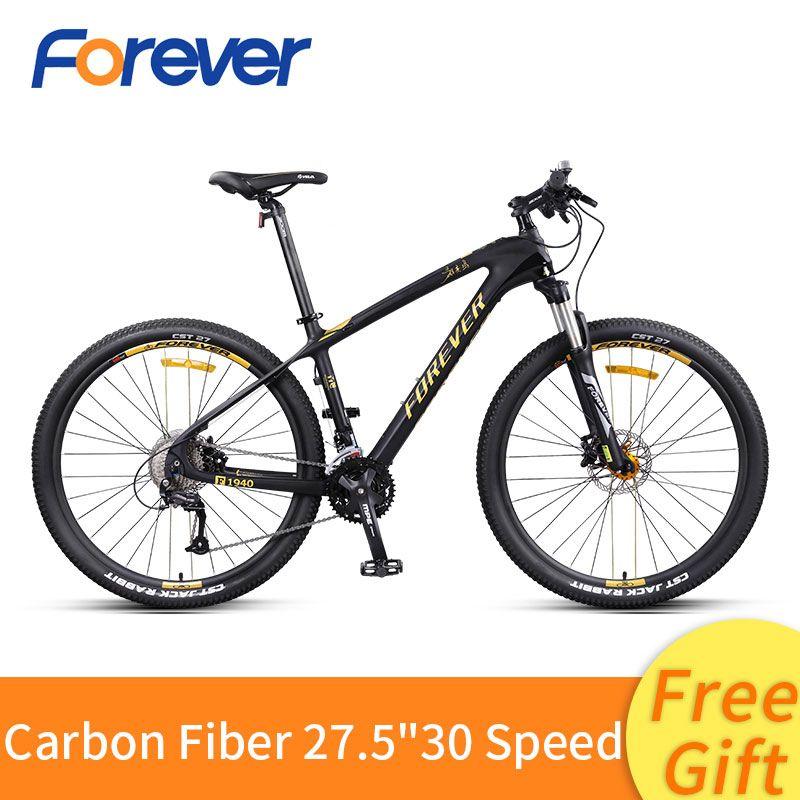 Carbon Faser Mountainbike 27/30 Geschwindigkeit weg von der Straße Bike 27,5 zoll Variabler Geschwindigkeit Fahrrad Vorne Hinten Hydraulische Scheiben Bremse MTB bike