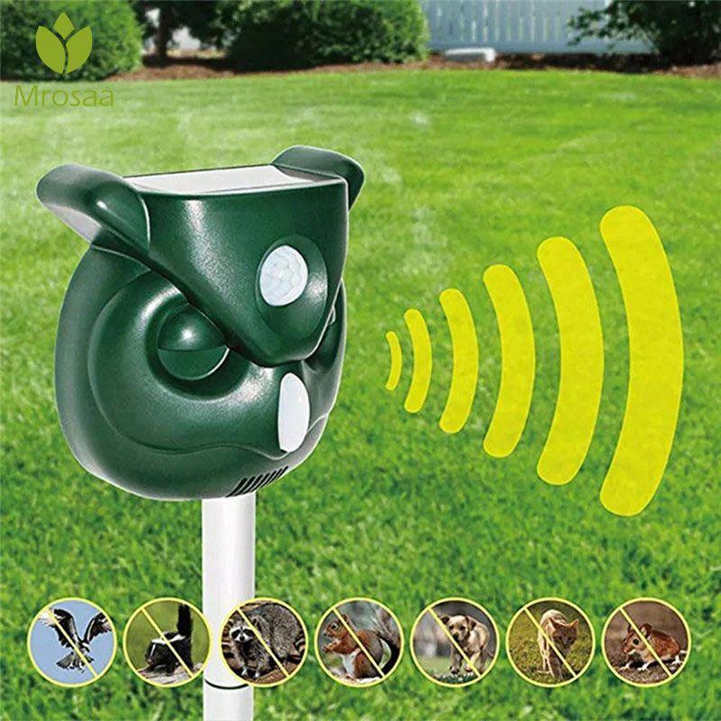 Heißer Verkauf Garten Solar Powered Ultras Outdoor Tiere Repeller Motion Sensor-Flash-Licht Hunde Katze Waschbären Kaninchen Tier Dispeller