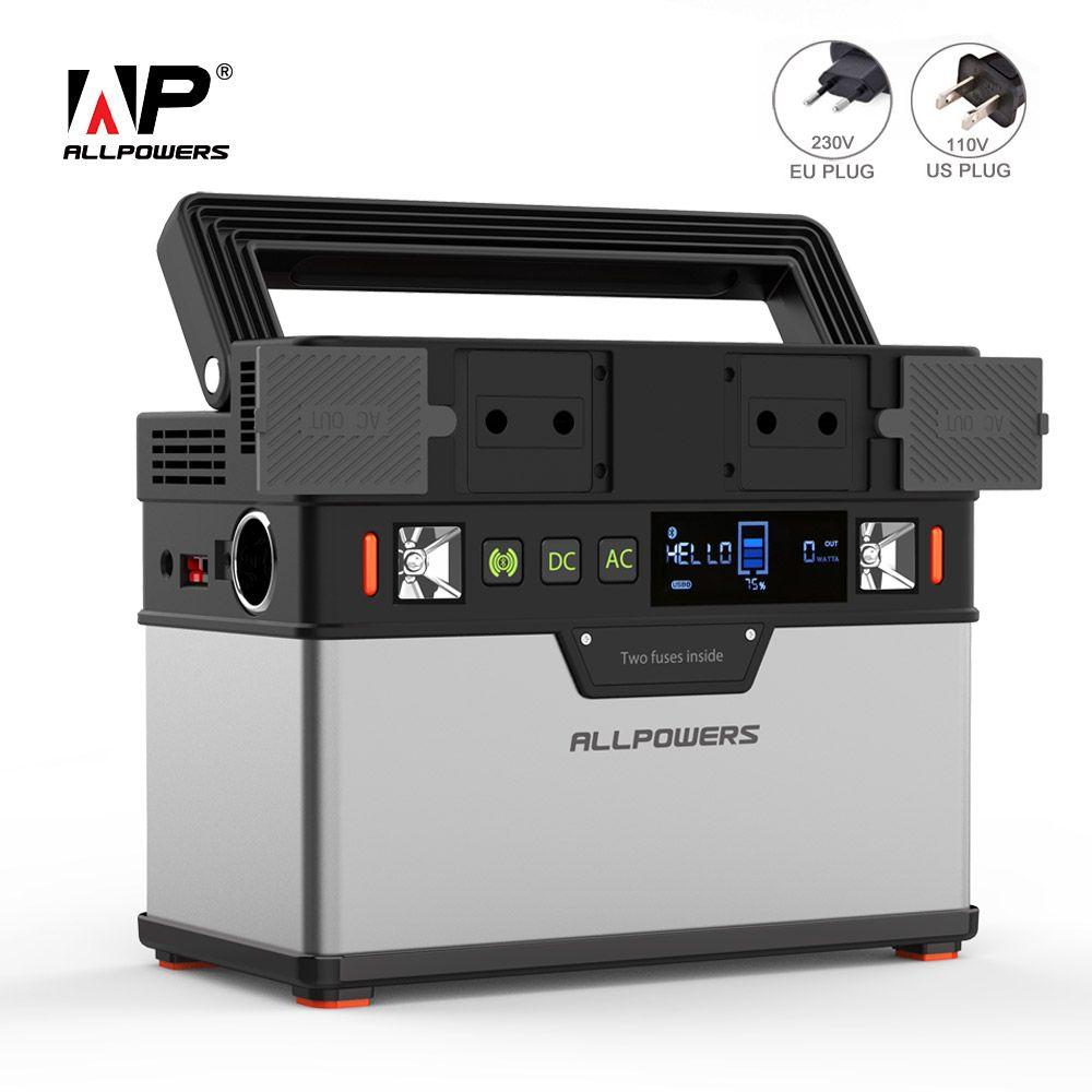 ALLPOWERS 110V 230V Power Bank 100500mAh Tragbare Externe Batterie Ladegerät für Handy Fans TV Auto Kühlschrank drone Laptop