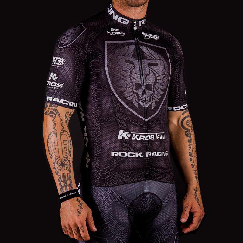 Hommes été maillot de cyclisme costume 2019 noir à manches courtes Pro équipe Rock course cyclisme vêtements ensemble Bbigliamento Ciclismo Estivo