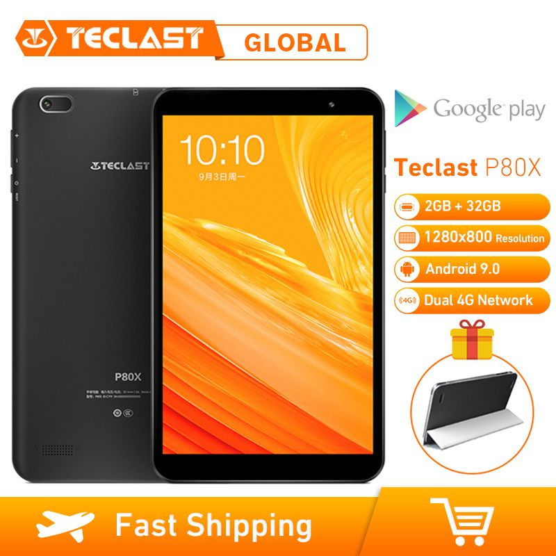 Teclast P80X 8 pouces 4G tablette Android 9.0 SC9863A IMG GX6250 Octa Core 1.6GHz 2GB RAM 32GB ROM double caméras tablette