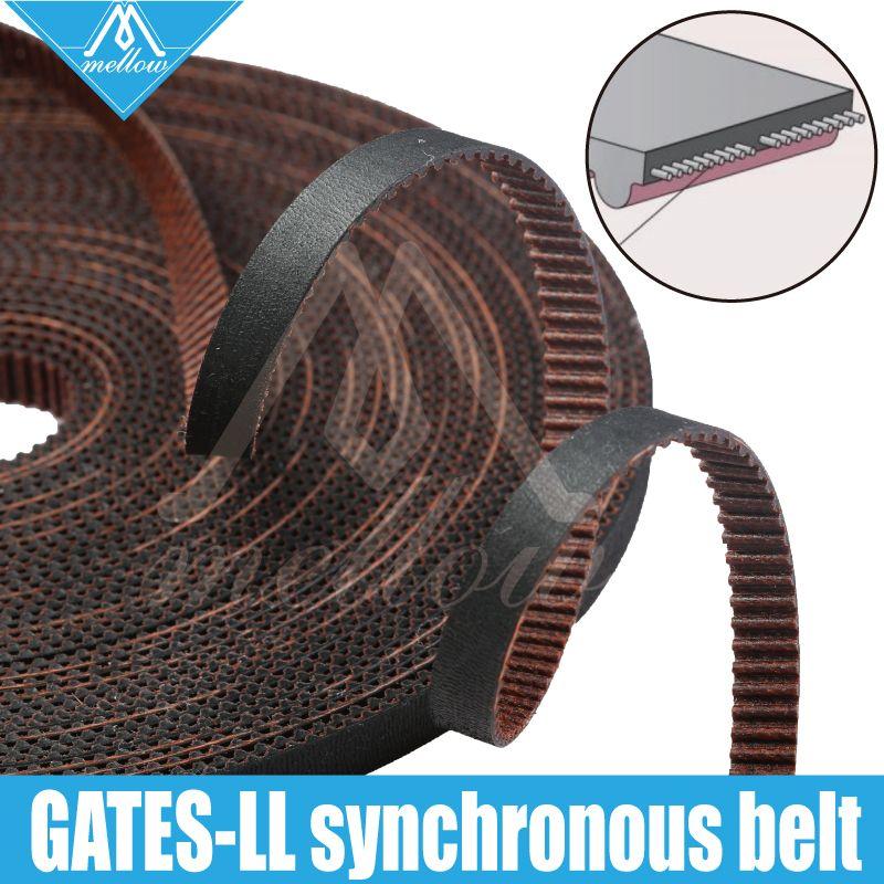 Haute qualité 3D imprimante GATES-LL-2GT engrenage synchrone ceinture GT2 largeur 6MM 9MM 10MM courroie de distribution, résistant à l'usure pour BLV mgn Cube