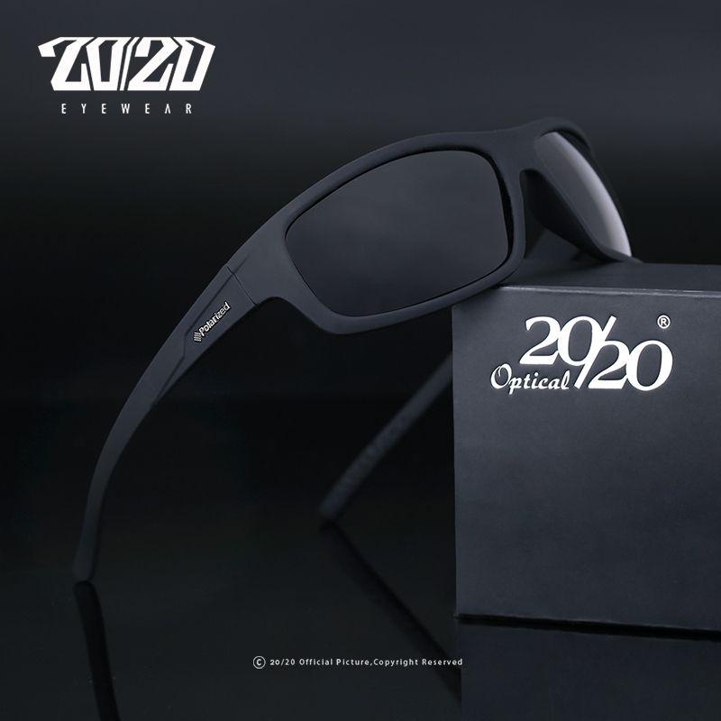 20/20 optique marque Design nouveau polarisé lunettes de soleil hommes mode lunettes pour homme lunettes de soleil voyage pêche Oculos PL66 NoBox
