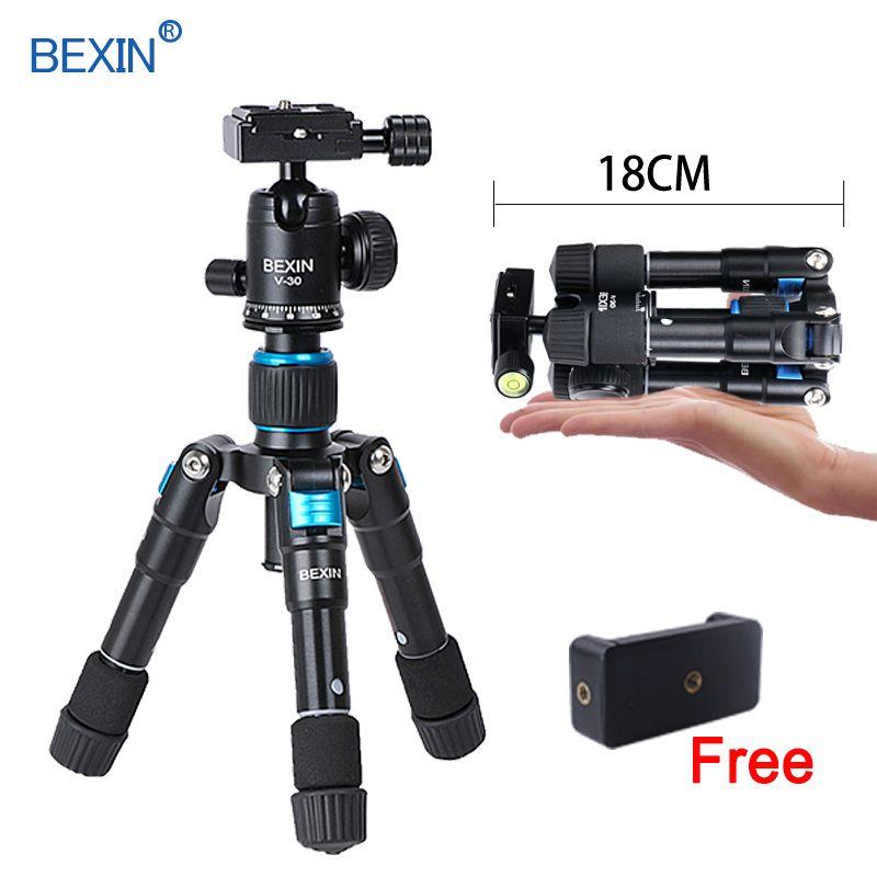 BEXIN flexible bureau Smartphone téléphone de table photographie poche trépied support Portable Compact Mini trépied pour appareil photo iPhone