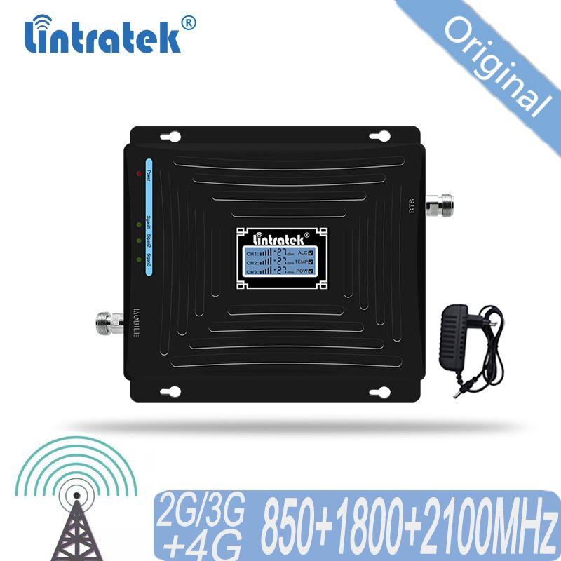 Cellular Signal Booster 4G 3G 2G 850 1800 2100 CDMA Tri Band Verstärker Handy Signal Repeater zu DCS WCDMA 2G 3G 4G LTE #50