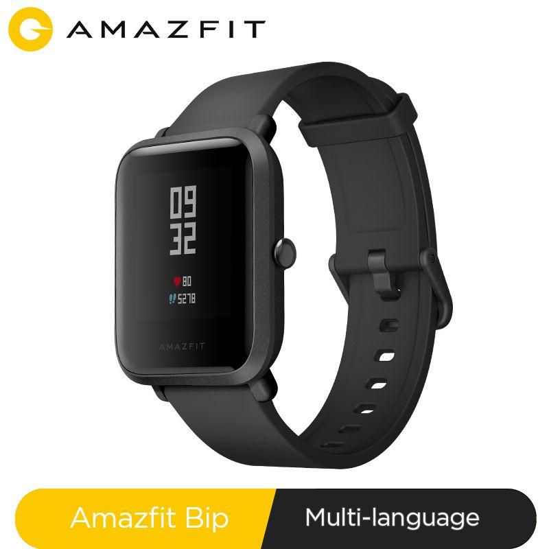 Huami Amazfit Bip montre intelligente Bluetooth GPS Sport moniteur de fréquence cardiaque IP68 étanche rappel d'appel MiFit APP alarme Vibration
