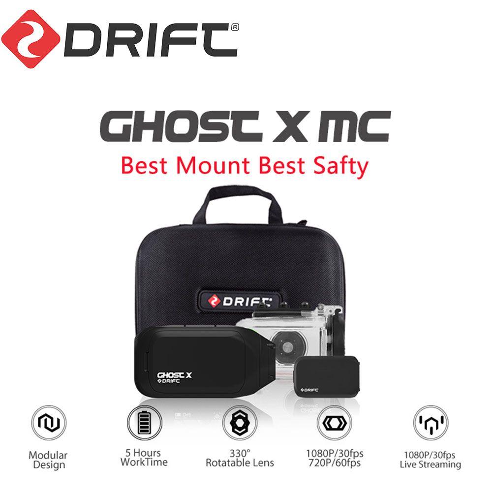 Dérive fantôme X MC caméra d'action Ambarella 1080P moto vélo sport casque Mini bras de came 12MP CMOS lentille rotative WiFi