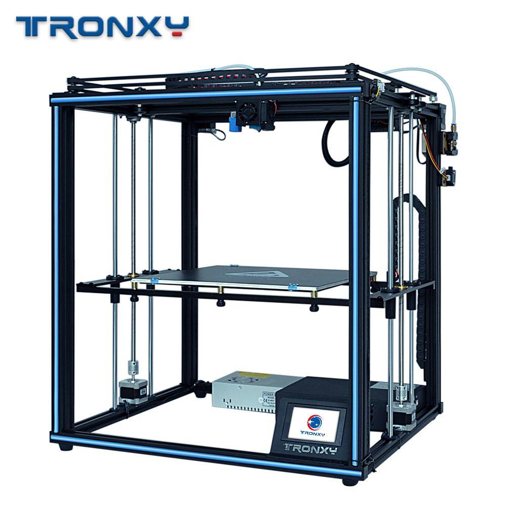 Tronxy 2019 Verbesserte X5SA 24V netzteil 3d Drucker Volle metall CoreXY DIY Kits 24V Wärme tisch 330 * 330mm Auto level 3d druck