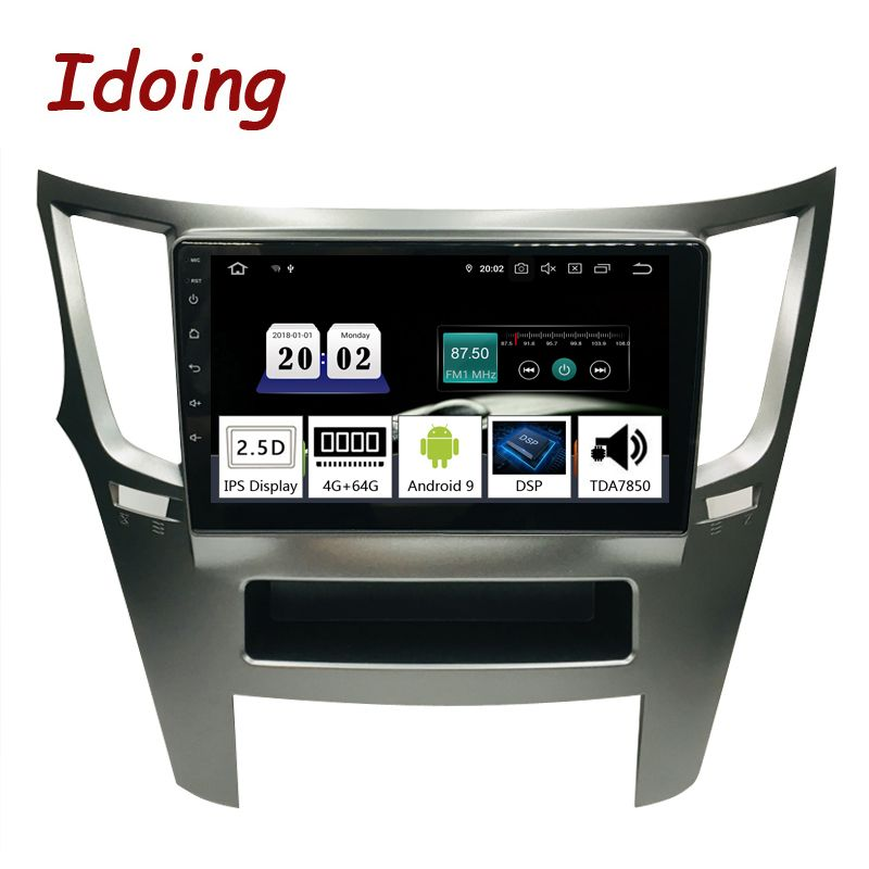 Idoing 9 PX5 4G + 64G Octa Core Auto Android9.0 Radio Multimedia Player Für Subaru Outback Legacy 2009-2014 GPS Navigation 2.5D IPS
