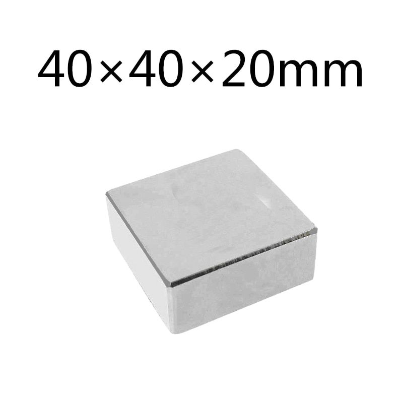 1/3/5pcs Super Strong Magnet Block 40x40x20 mm NdFeB N35 40mm x 40mm x 20mm Cuboid Rare Earth 40*40*20mm Neodymium Magnets