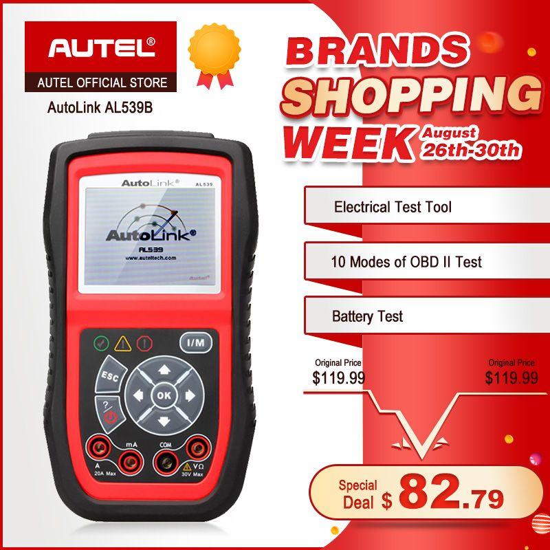 Autel Autolink AL539B OBD2 scanner automobile outil de Test électrique pour odb2 outil de diagnostic EOBD OBD 2 lecteur de Code de voiture PK al539