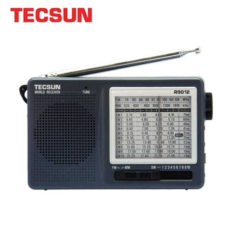 TECSUN R-9012 FM/AM/SW Radio 12 Bandes Internet Portable Récepteur Radio Haute Sensibilité Sélectivité Faible Bruit FM/AM/SW Radio